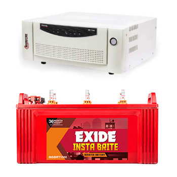 Combo-Microtek EB 700 Home UPS and Exide Insta Brite IB1500