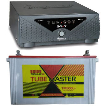 Combo Microtek 24x7 Hybrid 725 VA Home UPS and Exide Tube Master TM500L Plus