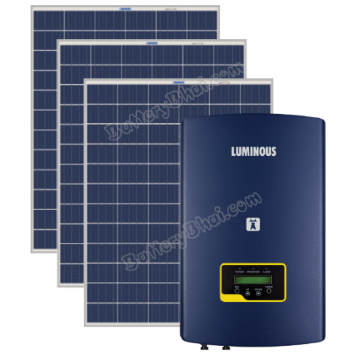 Luminous 1 KW On Grid Solar System with 1 KW Panel