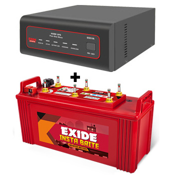 XTATIC 650VA Home UPS and Exide Insta Brite IB1500