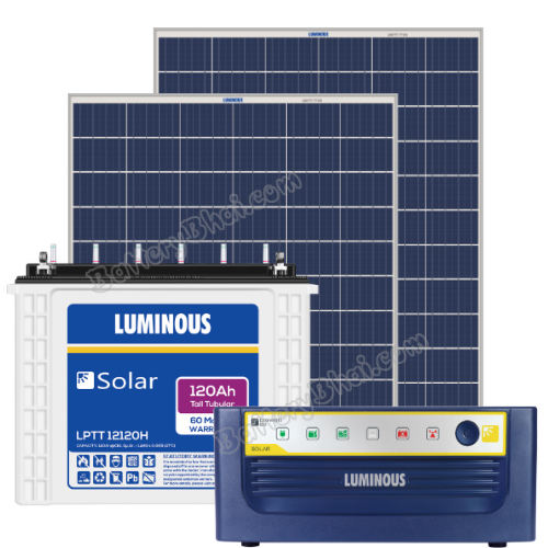 Luminous 600 VA Off Grid Solar System with 200 Watts Panel and Luminous Solar LPT12120H