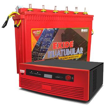 Inverterz GQP 850 and Exide Inva Tubular IT500