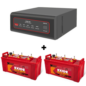 XTATIC 1450VA Home UPS and 2pcs Exide Insta Brite IB1500
