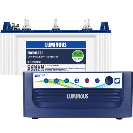 Eco Volt 1050 Home UPS and Luminous IL1830FP