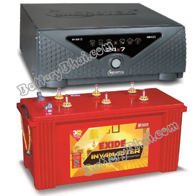 Combo Microtek 24x7 Hybrid 950 VA Home UPS and Exide InvaMaster IMST1500