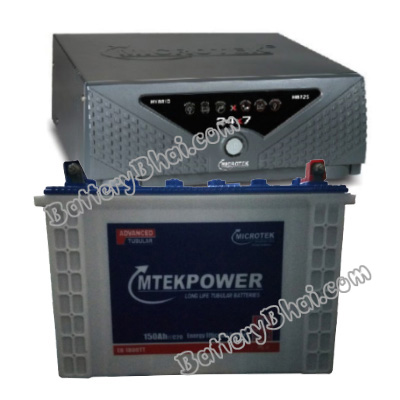 24x7 Hybrid 1125 VA Home UPS and MtekPower EB 1800TT