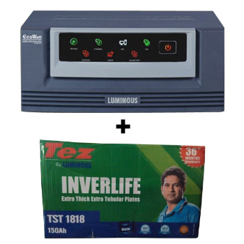 Eco Watt 650 Home UPS and Luminous TEZ TST 1818