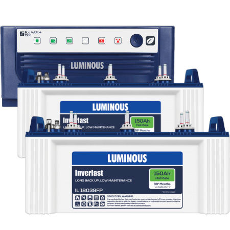 Luminous Eco Watt 1650 Home UPS and 2 pcs Luminous IL 18039FP