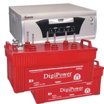 Combo Microtek EB 1600 VA Home UPS and 2pcs DigiPower DP 650