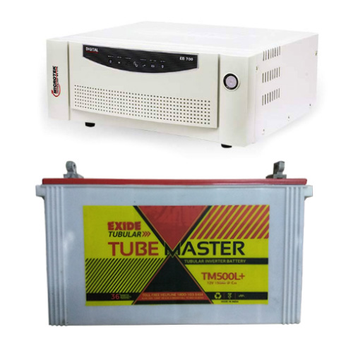 Combo-Microtek EB 700 Home UPS and Exide Tube Master TM500L Plus