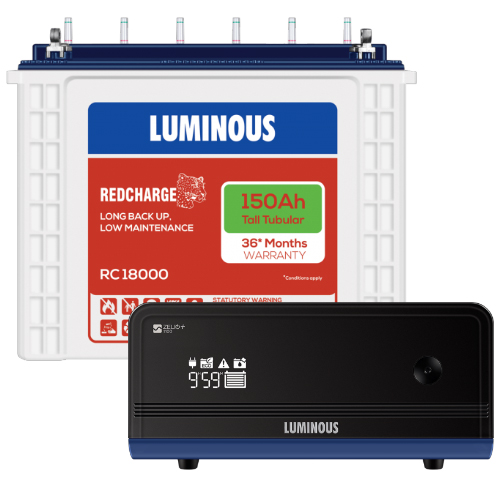 Luminous Zelio 1100 Home UPS and Luminous Red Charge RC 18000
