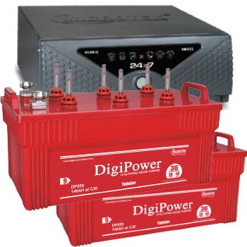 Combo Microtek 24x7 Hybrid 1650 VA Home UPS and 2pcs DigiPower DP 550