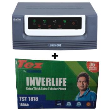 Eco Volt 850 Home UPS and Luminous TEZ TST 1818