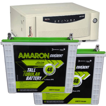 Combo-Microtek SEBz 1600 VA Home UPS and 2pcs Amaron AAM-CR-CRTT150