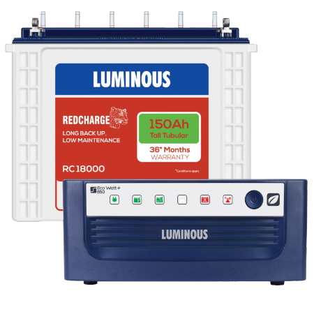 Eco Watt 650 Home UPS and Luminous Red Charge RC 18000