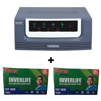 1500 Sine Wave UPS and 2 pcs Luminous TEZ TST 1818