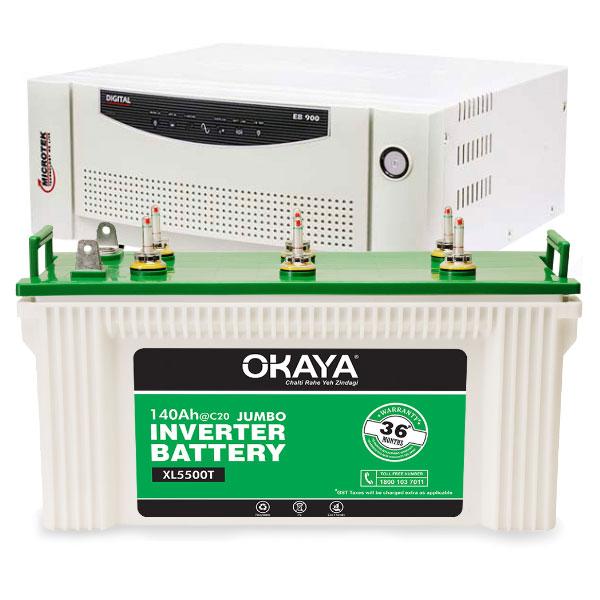 Digital UPS EB 700 and Okaya XL5500T
