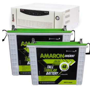 Combo-Microtek EB 1700 Home UPS and 2pcs Amaron AAM-CR-CRTT150