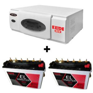 ECO 1500VA Home UPS and 2pcs Exide EL Master 150