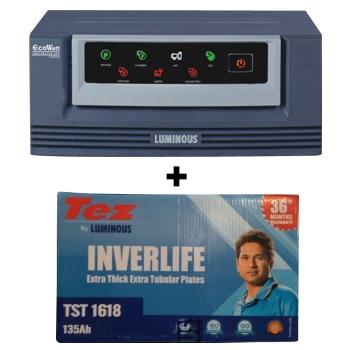 Eco Watt 650 Home UPS and Luminous TEZ TST 1618