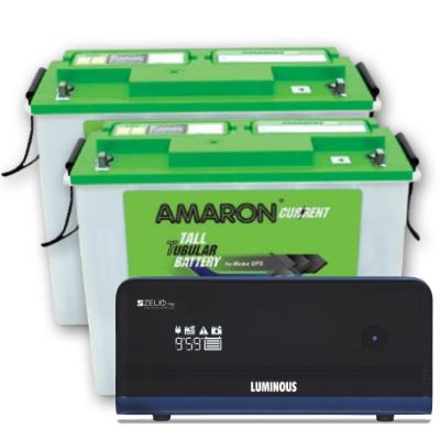 Zelio+ 1700 Home UPS and 2pcs Amaron AAM-CR-AR150TN54