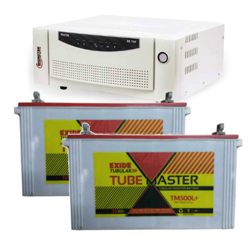 Combo-Microtek EB 1700 Home UPS and 2pcs Exide Tube Master TM500L Plus