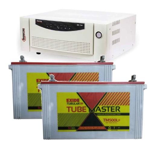 Combo-Microtek EB 1700 Home UPS and 2pcs Exide Tube Master TM500L Plus