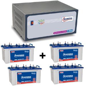 3.6 KVA Sinewave Multi Inverter and 4 pcs MtekPower EB 1800