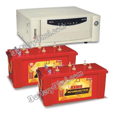 Combo-Microtek SEBz 1700 Home UPS and 2pcs Exide InvaMaster IMST1500