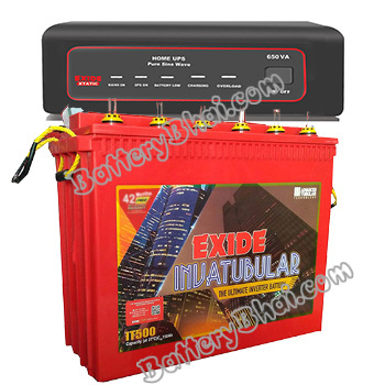 XTATIC 850VA Home UPS and Exide Inva Tubular IT500