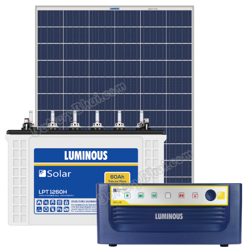 Luminous 600 VA Off Grid Solar System with 100 Watts Panel and Luminous Solar LPT1260H