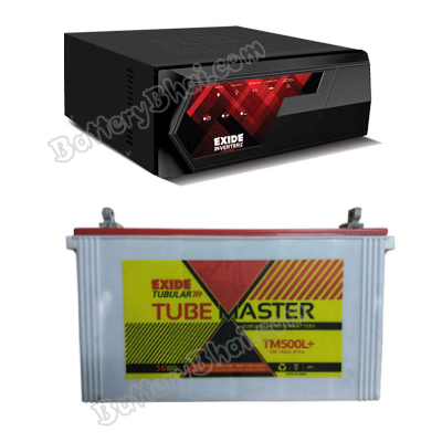 MAGIC 825VA Home UPS and Exide Tube Master TM500L Plus
