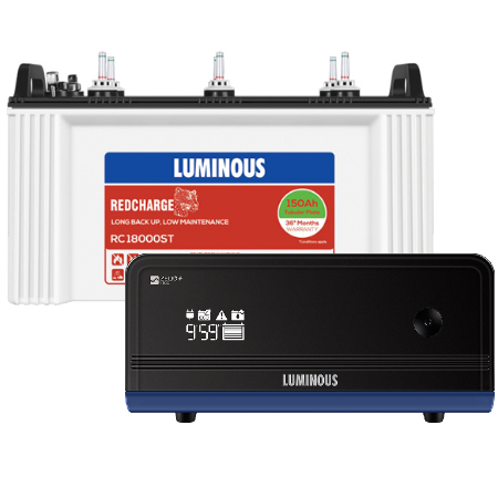 Zelio+ 1100 Home UPS and Luminous Red Charge RC18000ST