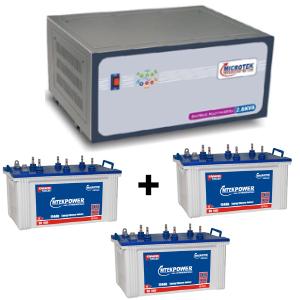 2.6 KVA Sinewave Multi Inverter and 3 pcs MtekPower EB 1800