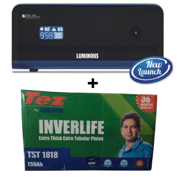 Zelio 1100 Home UPS and Luminous TEZ TST 1818