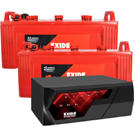Inverterz Magic 1500 Home UPS and 2pcs Exide Inva King IKST1350