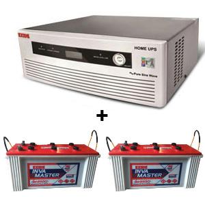 Combo(1400 VA Pure Sine Wave UPS and 2pcs IM 8500 Battery)