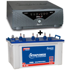 24x7 Hybrid 1125 VA Home UPS and MtekPower EB 1800