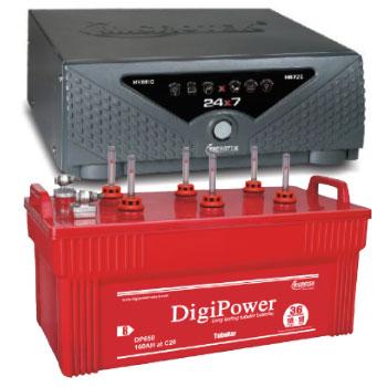 Combo Microtek 24x7 Hybrid 725 VA Home UPS and DigiPower DP 650