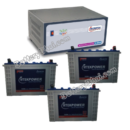 2.6 KVA Sinewave Multi Inverter and 3 pcs MtekPower EB 1800TT