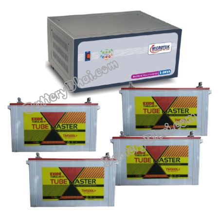 3.6 KVA Sinewave Multi Inverter and 4 pcs Exide Tube Master TM500L Plus