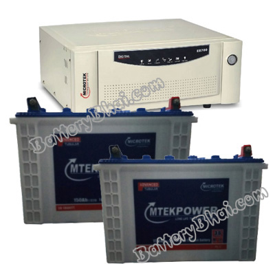 SEBz 2000 VA Home UPS and 2pcs MtekPower EB 1800TT