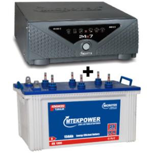 24x7 Hybrid 725 VA Home UPS and MtekPower EB 1800