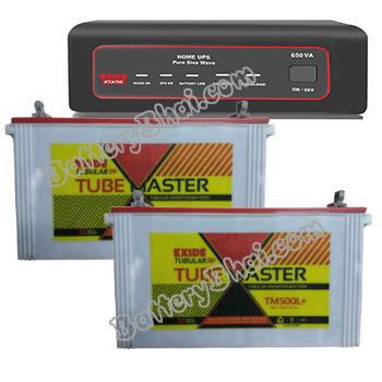 XTATIC 1450VA Home UPS and 2pcs Exide Tube Master TM500L Plus