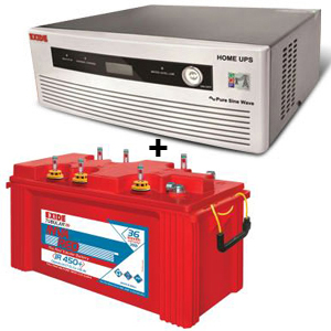 Combo(850 VA Pure Sine Wave UPS and Inva Red 500 Plus Battery)