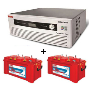 Combo(1450 VA Pure Sine Wave UPS and 2 Units Inva Red 500 Plus Battery)