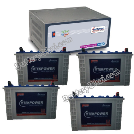 Microtek 3.6 KVA Sinewave Multi Inverter and 4 pcs MtekPower EB 1800TT