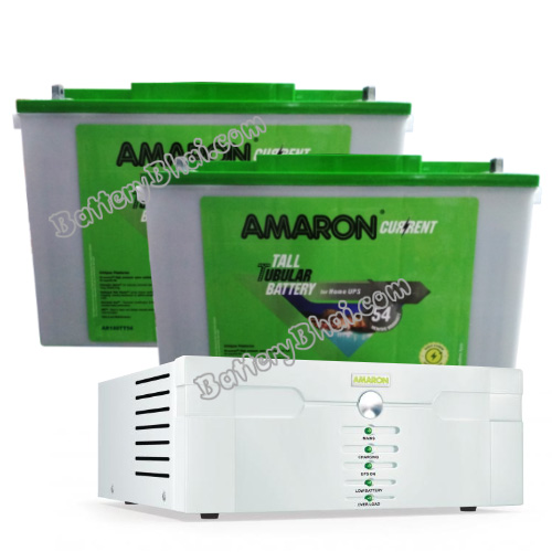 1400 Sine Wave UPS and 2 pcs Amaron AAM-CR-AR150TT54