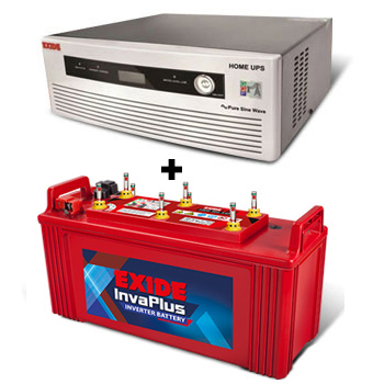 Combo(850 VA Pure Sine Wave UPS and FIP0-IP1500 Battery)