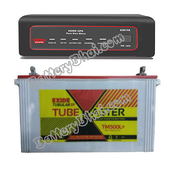 XTATIC 650VA Home UPS and Exide Tube Master TM500L Plus